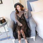 Maternity Set: Long-Sleeve T-Shirt Dress + Strappy Lace Dress 1596