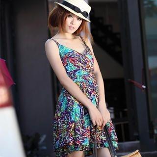 Picture of 19th Street Sleeveless V-Neck Print Dress 1023058506 (19th Street Dresses, Womens Dresses, China Dresses, Sleeveless Dresses)