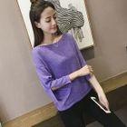 Slit-Sleeve Knit Top 1596