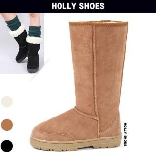 Buy Holly Shoes Fur Lined Suede Mid-Calf Boots 1021920045
