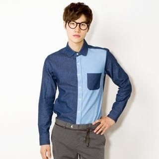 Two-Tone Cotton Shirt