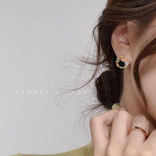Rhinestone | Sterling | Earring | Silver | Stone | Hoop | Gold | Size | Eye | Cat | One