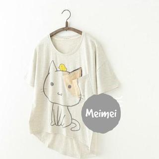 Cat Print T-Shirt 1040591048