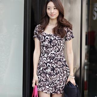 Buy Alice Room Rose Print Sheath Dress 1022513968