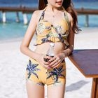 Set: Floral Print Bikini + Swim Dress 1596