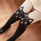 Cat Print Tights 1596