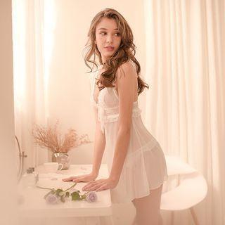 Set: Lace Nightdress + Thong 1064777150