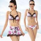 Set: Printed Bikini + A-Line Skirt 1596