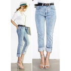 Roll-Up Washed Slim-Fit Jeans от YesStyle.com INT