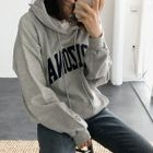 Lettering Hooded Top 1596