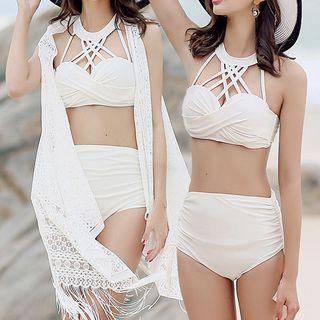 Image of Set: Cross Bikini + Cover Up