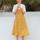 Set: Short-Sleeve T-Shirt + Strappy A-line Dress 1596