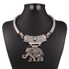 Set: Elephant Necklace + Earrings 1596
