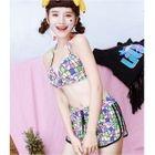 Set: Tasseled Tank Top + Shorts + Bikini 1596