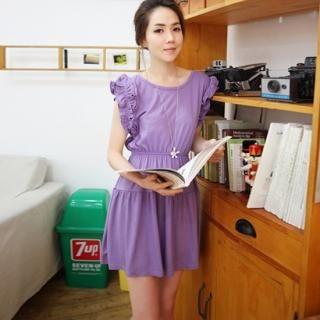 Buy IZABEL Frilled-Sleeve A-Line Dress 1023014814