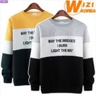 Lettering Color-Block Sweatshirt 1596