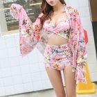 Set: Floral Cover + Floral Bikini 1596