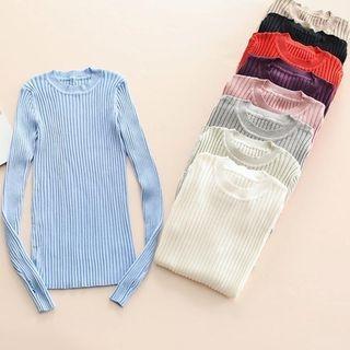 Long-Sleeve Rib Knit Top 1062282917