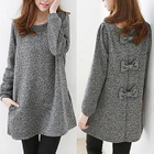 Long-Sleeve Bow-Accent Sweater 1596
