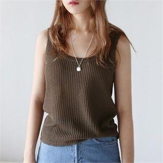 Sleeveless Knit Top 1067354573