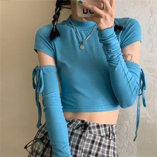 Long-sleeve   Detachable   T-Shirt