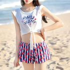 Set: Star Print Bikini + Print Short-Sleeve T-Shirt + Shorts 1596