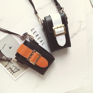 Buckled Color Block Crossbody Bag