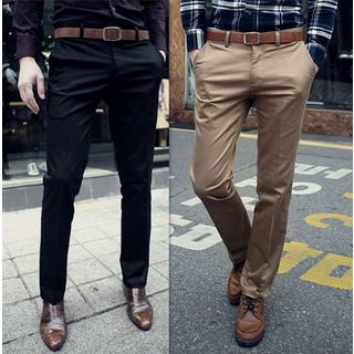 Plain Slim Fit Pants