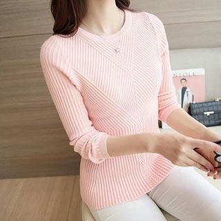 Ribbed Knit Sweater 1053368454