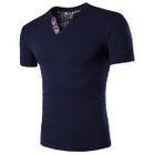 V-Neck Short-Sleeve T-Shirt Black - 4XL от YesStyle.com INT