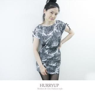 Buy HURRY UP Short-Sleeve Washed T-Shirt Dress 1023039163