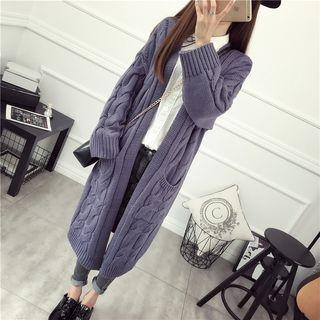 Ribbed Long Cardigan 1055027916