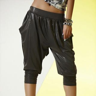 Buy tictak Cropped Wet-Look Harem Pants 1022687417