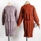 Set: Knit Sweater + Sleeveless Knit Dress 1596