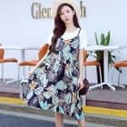 Set: T-Shirt + Printed Maternity Sundress 1596