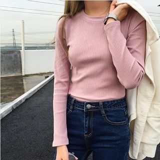 Ribbed Long-Sleeve T-Shirt 1053735456