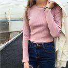 Ribbed Long-Sleeve T-Shirt 1596