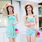 Set: Floral Bikini + Cover-Up Dress 1596