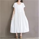 Short-Sleeve Maxi Dress 1596