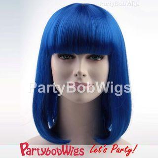 Medium | Party | Blue | Size | Wig | Bob | One