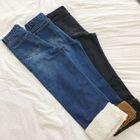 Fleece-lined Wide Leg Jeans 1596