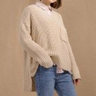 Ribbed Long-Sleeve Knit Sweater 1596