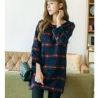 Plaid Long Sleeve Mini Dress 1596