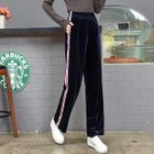 Striped Trim Straight-Leg Pants 1596