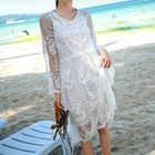 Set: Lace 3/4 Sleeve Dress + Tank Dress 1596