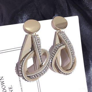 Rhinestone   Sterling   Earring   Dangle   Silver   Knot   Stud   Gold   Size   One