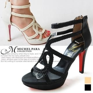 Buy MICHEL PARA COLLECTION Genuine Leather Platform Sandals 1022938882