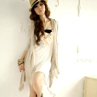 Picture of I'Miusa Petal-Accent Vest Dress 1022859102 (I'Miusa Dresses, Womens Dresses, Taiwan Dresses)