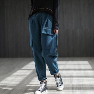 High-waist Harem Pants