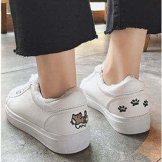 Image of Cartoon Canvas Sneakers ( without fur )